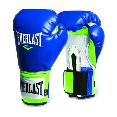 Everlast Pro Style Training Gloves 14 oz Green & Blue