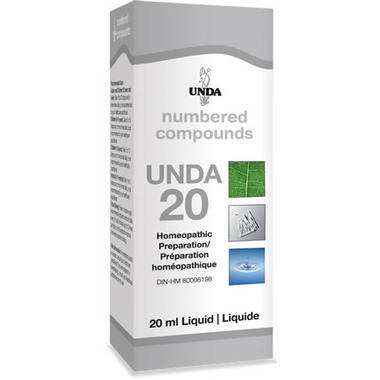 UNDA Numbered Compounds UNDA 20 Homeopathic Preparation