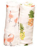 Little Unicorn Bamboo Muslin Swaddle Set Pink Ladies
