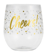 Elise Plastic Stemless Wine Glasses Cheers