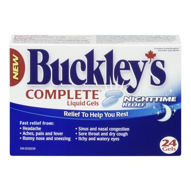 Buckley\'s Complete Night Time Liquid Gels