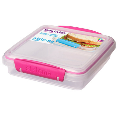 Sistema Sandwich Box To Go Pink