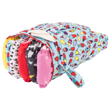 Funky Fluff Double Pocket Wet Bag Ice Ice Baby