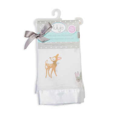 Lulujo Baby Muslin Cotton Security Blanket