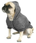 Canada Pooch Cozy Caribou Hoodie in Marled Grey Size 16