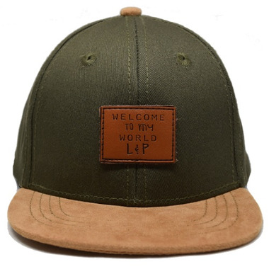 L&P Apparel Brooklyn Snapback Hat Khaki & Caramel