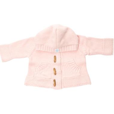 Beba Bean Knit Hoodie Pink