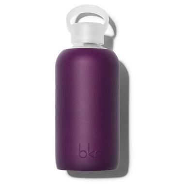 bkr Lolita Glass Water Bottle Opaque Blackberry