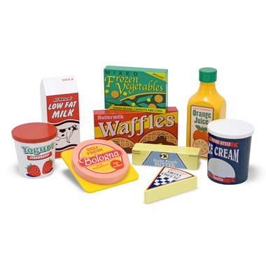 Melissa & Doug Wooden Play Fridge Food Set