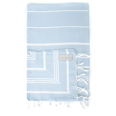 Stray & Wander Marin Turkish Hand Towel Powder Blue