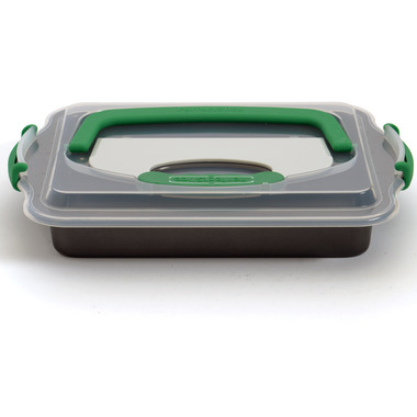 BergHOFF Perfect Slice 9x13 Inch Covered Cake Pan with Tool