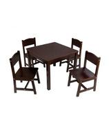 KidKraft Farmhouse Table & Chair Set Espresso