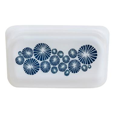 Stasher Reusable Snack Bag Blue Spokes