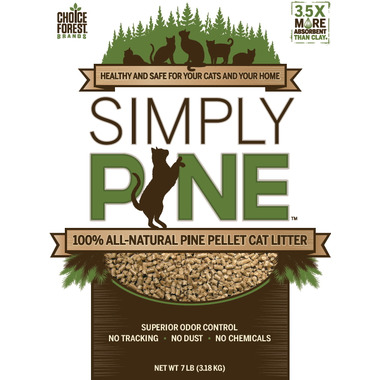 Simply Pine 100% All-Natural Pine Pellet Cat Litter