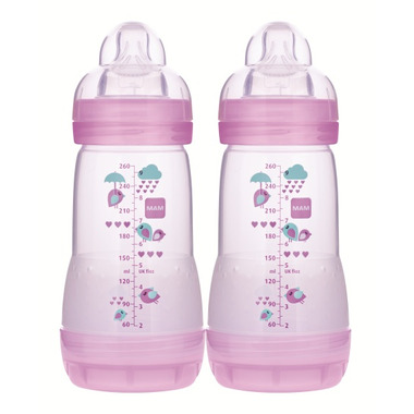 Mam Anti-Colic Bottle 9oz Pink