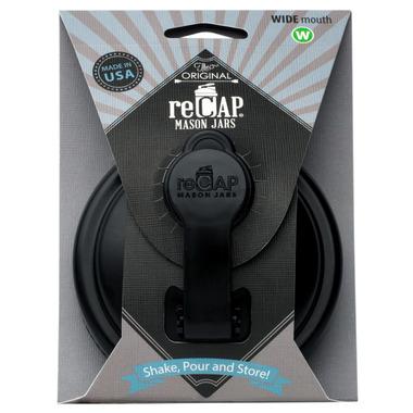 reCAP Mason Jars Pour Cap Wide-Mouth in Black