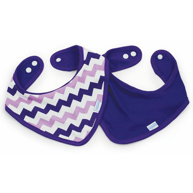 Bumkins Waterproof Bandana Bib Purple Chevron