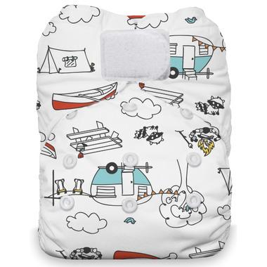 Thirsties Natural One Size All in One Hook & Loop Diaper Happy Camper