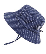 Twinklebelle Grow-With-Me Baby Bucket Sun Hat Navy Waves