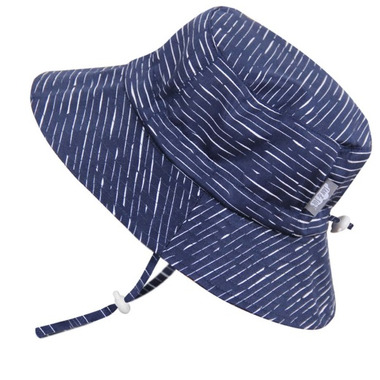 Twinklebelle Grow-With-Me Baby Bucket Sun Hat Navy Waves