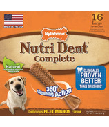 Nutri Dent Complete Dental Chews Filet Mignon Large Size 16 Pack