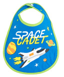 Little Blue House Infant Coated Bib Space Cadet