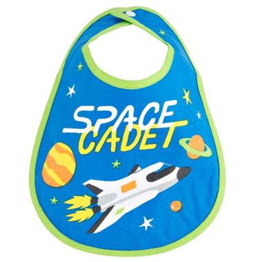 Little Blue House Infant Coated Bib Space Cadet