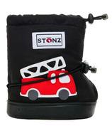 Stonz Black Fire Truck Toddler Booties