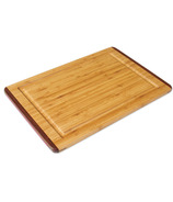 Island Bamboo Rainbow Carving Board with Gravy Groove