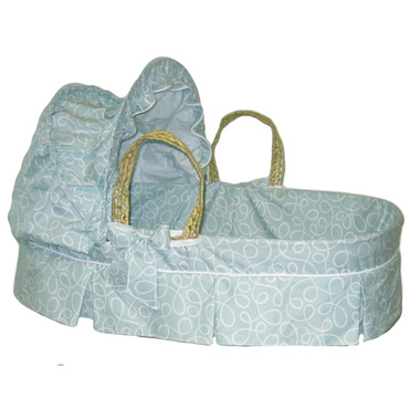 Jolly Jumper Robin\'s Egg Swirl Moses Basket