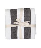 Harman Industrial Stripe Basketweave Tea Towel Black and White