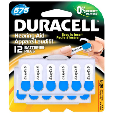 Duracell Hearing Aid Batteries Size 675