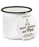 Paddywax Alpine Enamelware White Woods & Mint Candle