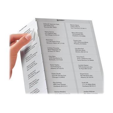 Avery Easy Peel White Laser Mailing Labels