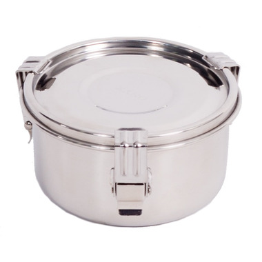 Onyx 3-Clip Airtight Stainless Steel Food Storage Container 8 cm