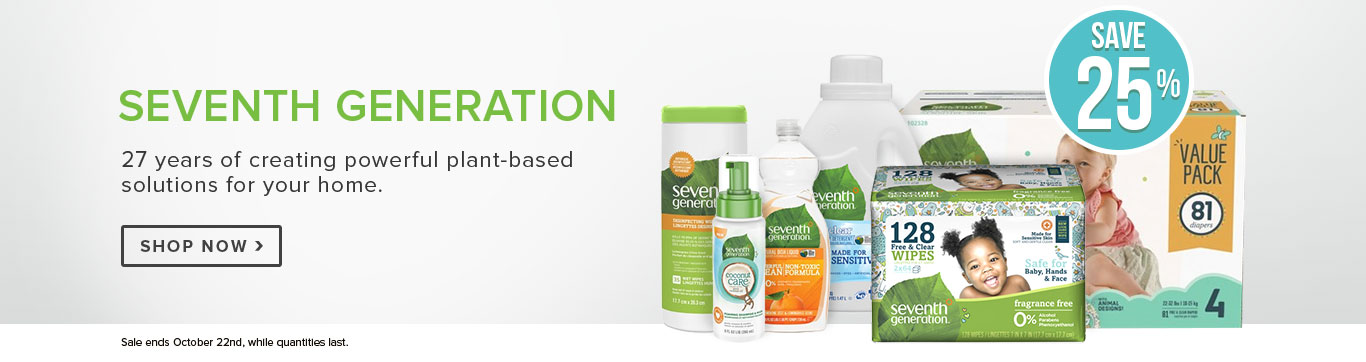 Save 25% on Seventh Generation