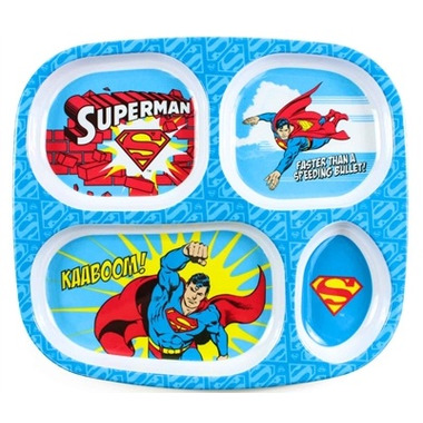 Bumkins DC Comics Melamine Plate Superman