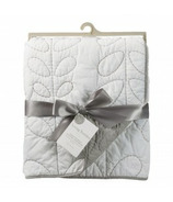 Living Textiles Cotton Poplin Quilted Comforter White & Grey