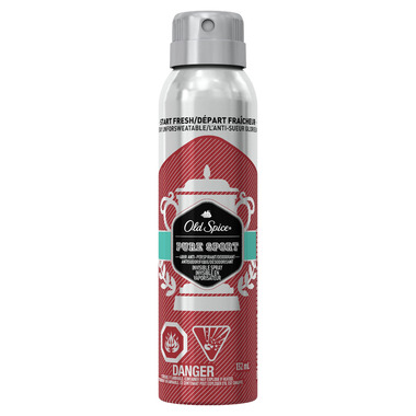 Old Spice Invisible Spray Antiperspirant and Deodorant Pure Sport