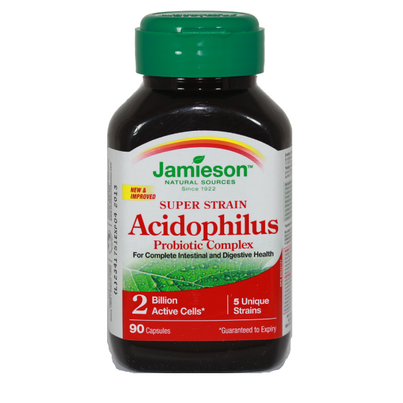 Jamieson super strain acidophilus probiotic supplement review