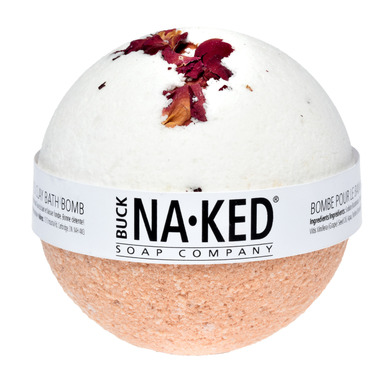 Buck Naked Soap Company Rose & Moroccan Red Clay Bath Bomb