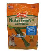 Nutri Dent Complete Dental Chews Chicken Mini Size 78 Pack
