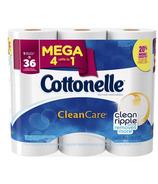 Cottonelle Clean Care Clean Ripple Mega Roll Toilet Paper