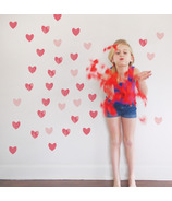 Trendy Peas Wall Decals Hearts Strawberry