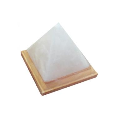 Lumiere de Sel White Himalayan Salt Crystal Pyramid Lamp