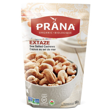 PRANA Extaze Organic Sea Salted Cashews