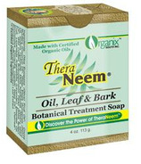 TheraNeem Neem Oil, Leaf & Bark Botanical Cleansing Bar