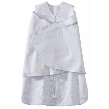 Halo SleepSack Swaddle 100% Cotton Silver Pin Dot