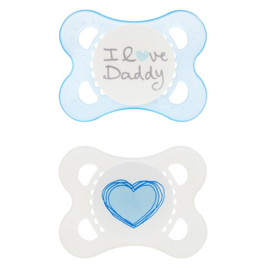 Mam Silicone Love & Affection Pacifier I Love Daddy Blue