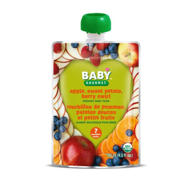 Baby Gourmet Apple, Sweet Potato, Berry Swirl Baby Food Case